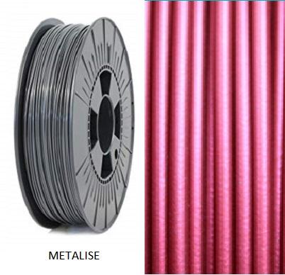 Filament 1.75 PLA Rouge métallisé Status3D