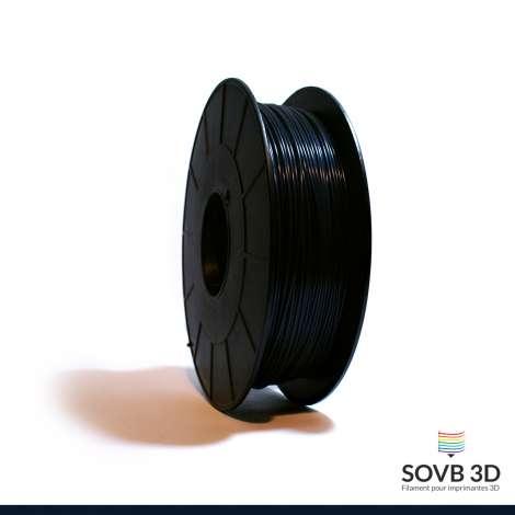 Filament PLA noir bleuté 1kg