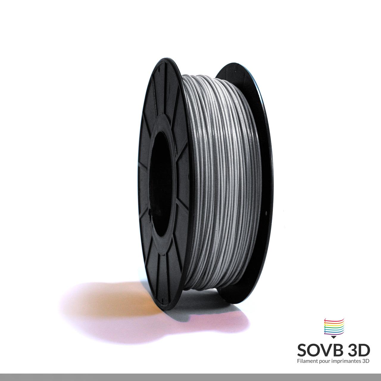 Filament PLA gris aluminium 1Kg Ral9007